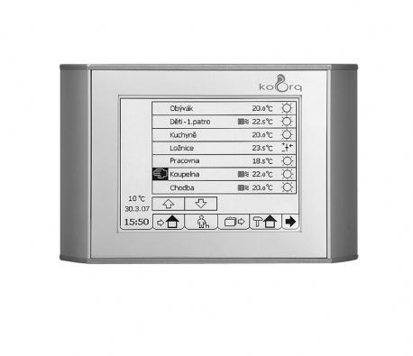 Elektronika může zajistit racionální řízení teploty vcelém domě (ADP CZ).