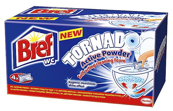Bref WC Tormado čistí nejen mísu, ale iodpad (Henkel).