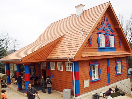Gočárovy domy pochází z období národního dekorativismu.