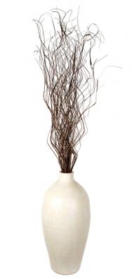 Amfora zpálené hlíny, cena 827Kč + svazek suchého ratanového proutí, cca 100ks, cena 99Kč (IN ART).