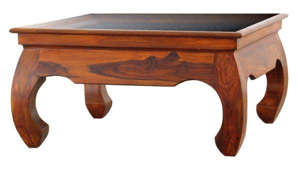 Kávový stolek zkolekce Opium table, materiál palisandr, ruční řezba. Cena 13000Kč  (ALMI DÉCOR).