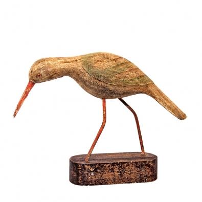 Exotická soška ptáka vyřezaná ztropického dřeva Albizia Falcata, cena 690Kč (IN ART).