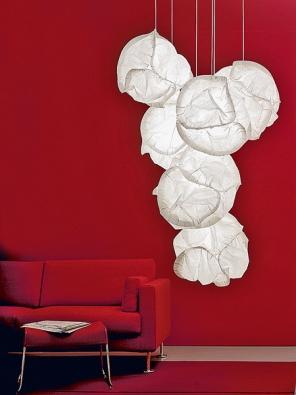 Cloud, polyester, formovatelný aohnivzdorný, cena od 9400Kč  (Belux, dodává BULB).