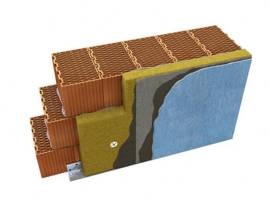 Minerální vlna se  vkontaktním zateplovacím sytému uplatňuje ve formě minerálních desek (SIG CZECH)