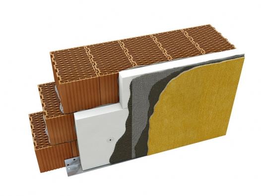 Polystyrenové desky se lepí spomocí tmele přímo na obvodovou stěnu domu (SIG CZECH).