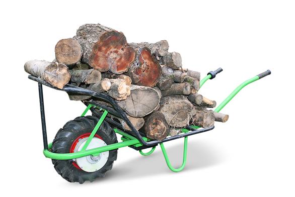 Trakařová nástavba mokař umožní naložit na motúčko až 150kg dřeva. Cena 2200Kč.