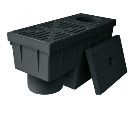 Lapač nečistot (košík) Geiger RSK 2000 slouží také jako sifonový uzávěr zápachu zkanalizace.