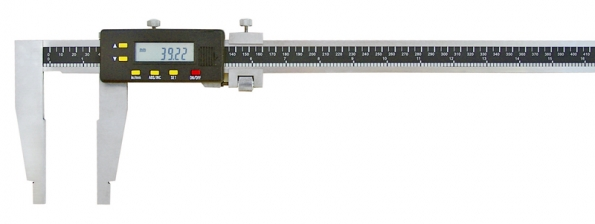 Digitální posuvné měřítko srozsahem do 500mm, smožností volby mezi metrickou apalcovou soustavou (SOMET).