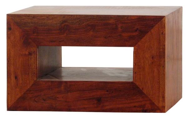 Noční skříňka ručně vyrobená zexotického dřeva koa. Minimalistická forma vychází znejlepší tradice skandinávského designu (ALMI DECOR).