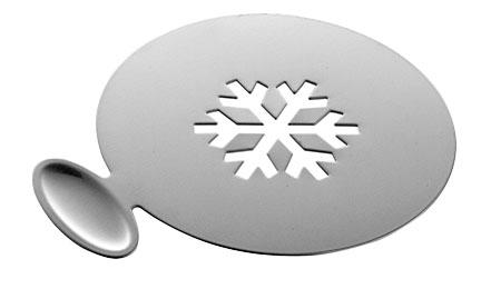 Šablona na zdobení cappuccina, výrobce Carl Mertens, cena jedné šablony 239 Kč (Potten & Pannen – Staněk).