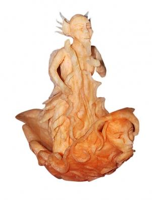 Gastronomičtí řezbáři nejčastěji využívají kesvé práci velká jablka aplody stvrdou dužinou, jako jsou melouny, dýně aananasy.