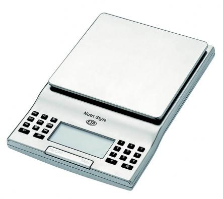Spíše notebook připomíná vzhledem irozměrem kuchyňská váha 77749 Nutri Style svýpočtem akontrolou nutričních hodnot, váží potraviny do 3kg, cena 869Kč (ETA).