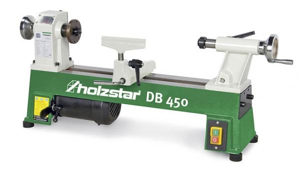 Malý kompaktní soustruh nadřevo DB 450 pro hobby adomácí dílnu, cena 4490Kč bezDPH.