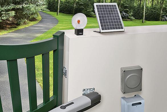 Solární systém pro brány, vrata, závory