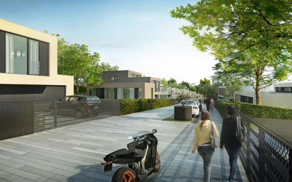 Návrhy jak exteriérové architektury, tak dispozičního uspořádání jednotlivých vil prošly intenzivním vývojem.