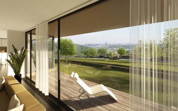 Každá vila nabídne možnost odpočinku na prostorné terase.