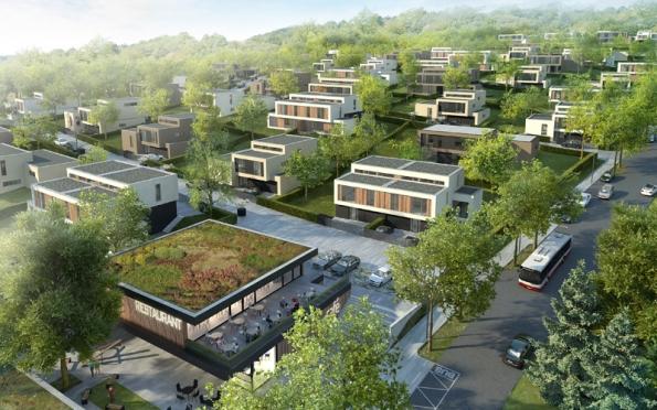 Hlavním požadavkem developera projektu VILY CHUCHLE bylo navrhnout moderní bydlení.