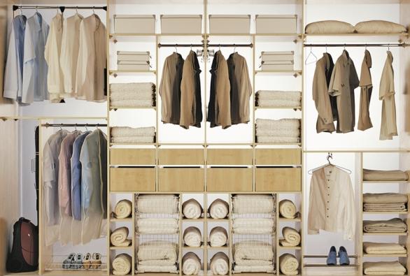 Pro vybavení vnitřku vestavěných skříní je na trhu bohatá nabídka nejrůznějších úložných systémů (DELFI).