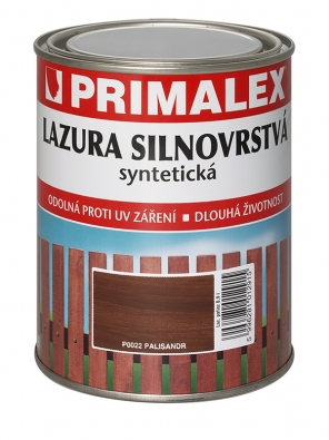 Lazura silnovrstvá je určena kvrchním hedvábně lesklým nátěrům dřeva určeným pro venkovní ivnitřní prostředí (PRIMALEX).