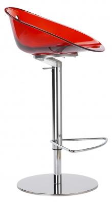 Barová židle Gliss 970, kostra chromovaná, plastový sedák, cena 9033Kč (ALAX).