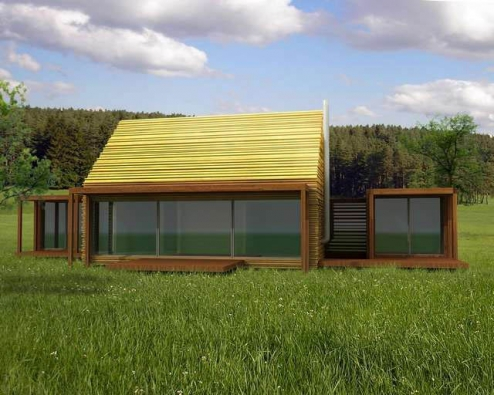 Vizualizace: Zvolené stavební technologie jsou levné a umožňují modelární rozšíření domu.