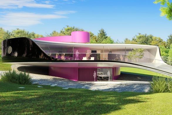 Jan Kaplický je typickým představitelem high-tech architektury s prvky organického designu – inspirován přírodními tvary a vždy v souladu s přírodou. Domov může být zahradou a zahrada domovem…