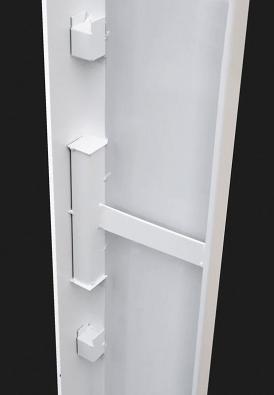 Zakrytování uzavíracího otvoru ubezpečnostních kovových dveří (SAPELI).
