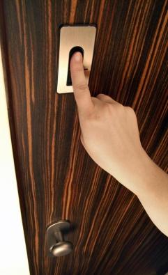 Dveře lze doplnit dalšími bezpečnostními komponenty, například čtečkou otisků prstů, která vespojení smotorovou vložkou zamyká aodemyká dveře automaticky bez použití klíče (NEXT).