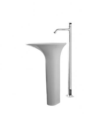 Umyvadlo Faraway Round (Kos), design Ludovica aRoberto Palombovi, materiál Cristalplant, cena 68640Kč (STYLINE).