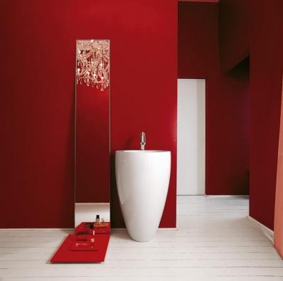 Umyvadlo One zkolekce Il Bagno Alessi (Laufen), design Stefano Giovannoni, keramika, cena 32622Kč (LAUFEN BATHROOM).