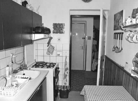 Namístě vany původně stál plynový sporák.