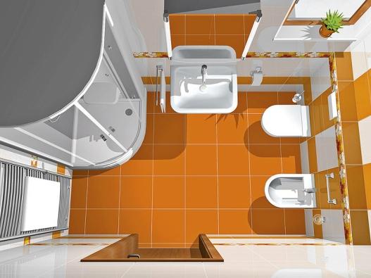 Do levého rohu designér umístil parní kabinu Steam Tower značky Villeroy & Boch, která je vybavena hlavovou aruční sprchou, bočními masážními tryskami, parním systémem avnitřním osvětlením. Prostor vrohu zaujímá radiátor Ravak Extra ošířce 60cm – cena 10916Kč.