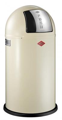 Odpadkový koš Pushboy, lakovaná ocel nebo leštěná ocel, objem 50l, výrobce Wesco. Cena 5919Kč (Potten & Pannen – Staněk).