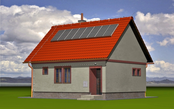Kvalitně provedený hromosvod ochrání spolehlivě dům ijeho příslušenství, například solární kolektory (DEHN+SÖHNE).