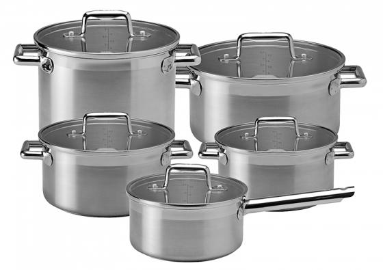 Nerezové nádobí Edition (Tefal), kolekce 10 ks, vhodné pro indukční vaření, cena 3 999 Kč (GROUPE SEB).