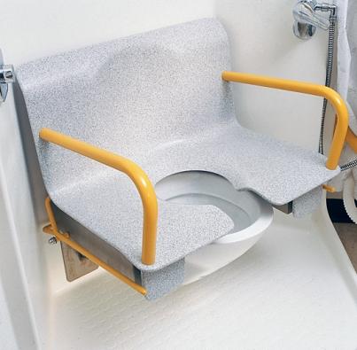 Hygienické křeslo Sanitas  z corianu usnadní používání toalety (DUPONT).