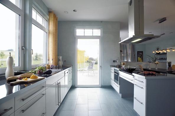 Bezbariérový dům Belvita je navržen bez prahů, různých výškových úrovní a schodů (HANSE HAUS).