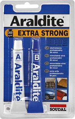 Novinkou na trhu je řada dvousložkových lepidel Araldite.Výhodou dvousložkových lepidel je rychlost vytvrzení, úspornost použití afakt, že lepidlo netvrdne vbalení (Soudal).