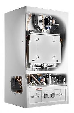 Plynový kotel Dagas 02 lze zakoupit ivprovedení sintegrovaným zásobníkem TUV. Cena od 18400Kč bez DPH (Dakon).