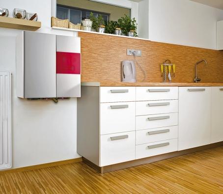 Výhodou elektrokotlů je bezemisní provoz apoměrně snadná instalace. Kotel Daline ktomu ještě přidává skvělý design, díky němuž ho lze zavěsit téměř kdekoli, aniž by působil rušivě. Cena od 13550 Kč bez DPH (Dakon).