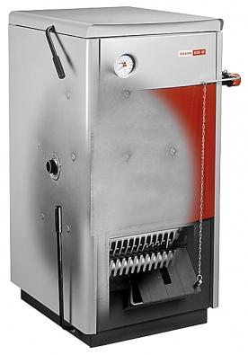 Tuhým palivům ještě určitě neodzvonilo. Ocelový teplovodní kotel Dor spaluje hnědé ičerné uhlí nebo dřevo. Cena od 14200Kč bez DPH (Dakon).