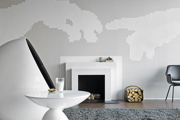 Tmelovité barvy Tunto dokážou vykouzlit  na stěně jakékoli plastické obrazce.