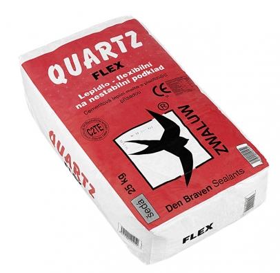 Flexibilní stavební lepidlo Quartz Flex na nestabilní podklad, cena 110 Kč/5 kg.