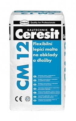 Flexibilní lepicí malta CM 12,  cena 360 Kč/25 kg.