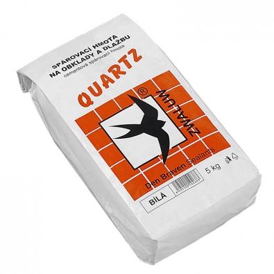 Spárovací hmota na obklady a dlažbu QUARTZ, cena od 130 Kč/5 kg.