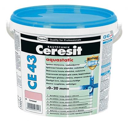 Spárovací hmota s hydrofobním efektem CE 43,  cena od 260 Kč/5 kg.