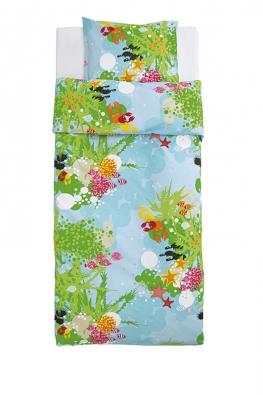 Vesele barevné bavlněné povlečení srozměry přikrývky 150 x 200 cm můžete mít za 399 Kč (IKEA).