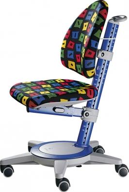 Rostoucí pojízdná židle Maximo Forte znábytkové řady Moll–Basic má nastavitelnou výšku ihloubku sedáku aopěradla, orientační cena od 10760 Kč (ALAX).