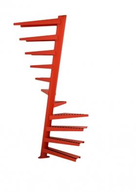 Spirálovité schodiště zabere jen 1m² plochy, může mít max. 13 stupňů, jinak se přizpůsobí každému interiéru. Cena cca od86400Kč (EEDESIGN).