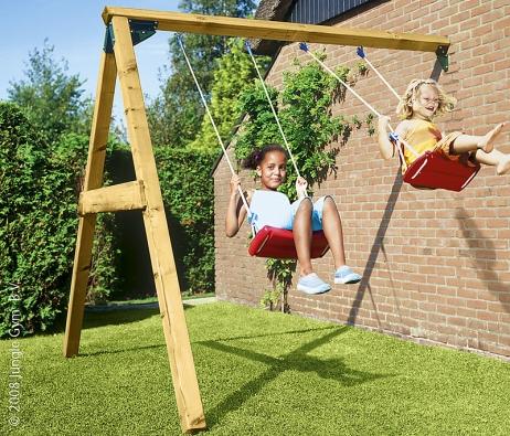 Houpačka Swing Modul, nejčastější příslušenství pro dětská hřiště Jungle Gym. Cena 3375Kč (JUNGLE GYM, prodává VLADEKO).